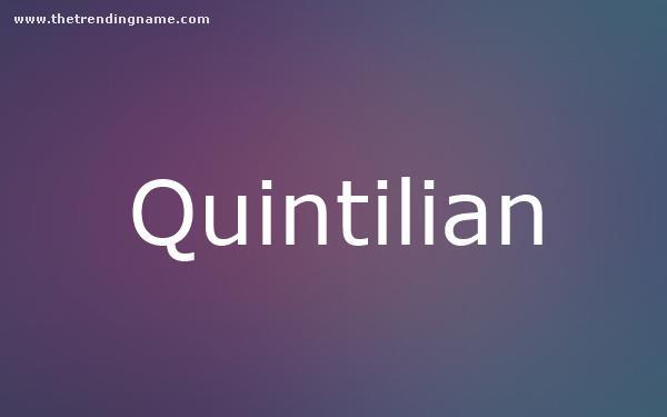 Baby Name Poster For Quintilian