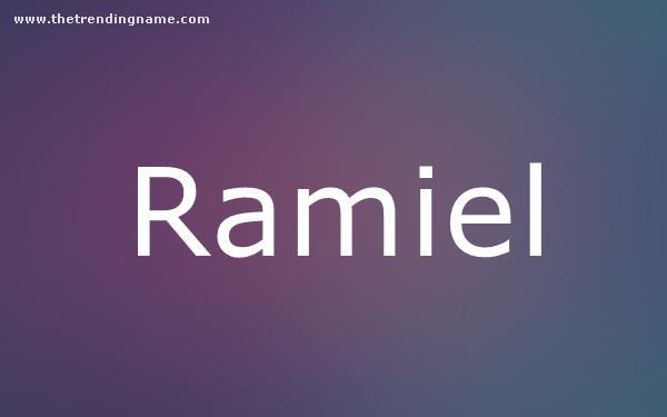 Baby Name Poster For Ramiel