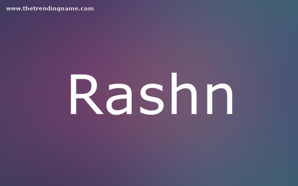 Baby Name Poster For Rashn
