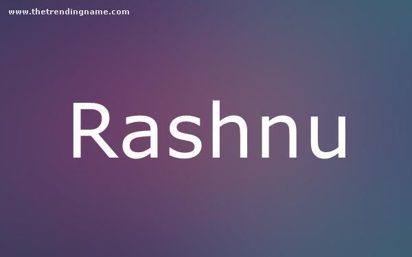 Baby Name Poster For Rashnu