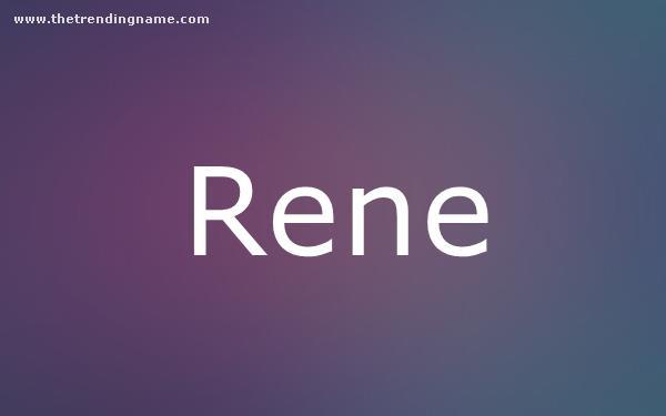 Baby Name Poster For Rene