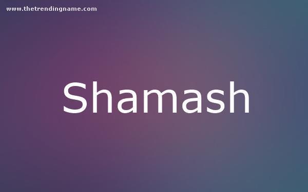 Baby Name Poster For Shamash