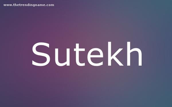 Baby Name Poster For Sutekh