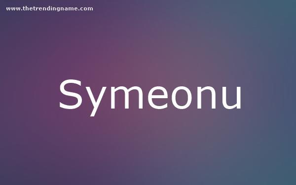 Baby Name Poster For Symeonu