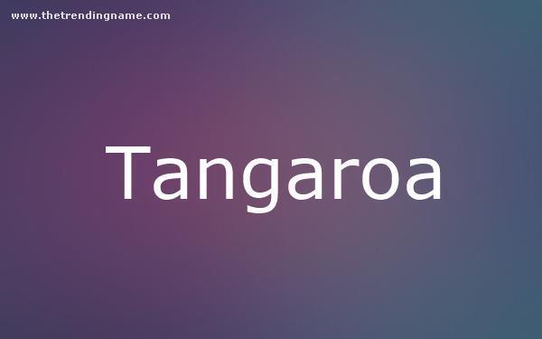 Baby Name Poster For Tangaroa