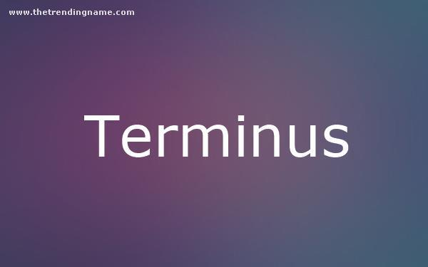 Baby Name Poster For Terminus