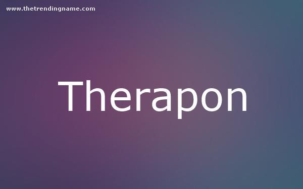 Baby Name Poster For Therapon