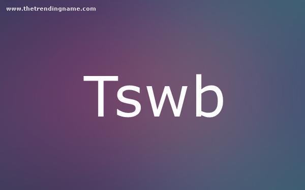 Baby Name Poster For Tswb