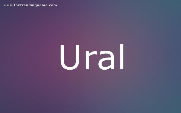 Baby Name Poster For Ural