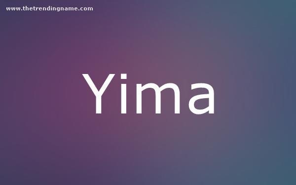 Baby Name Poster For Yima