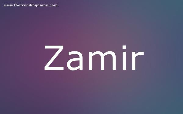 Baby Name Poster For Zamir
