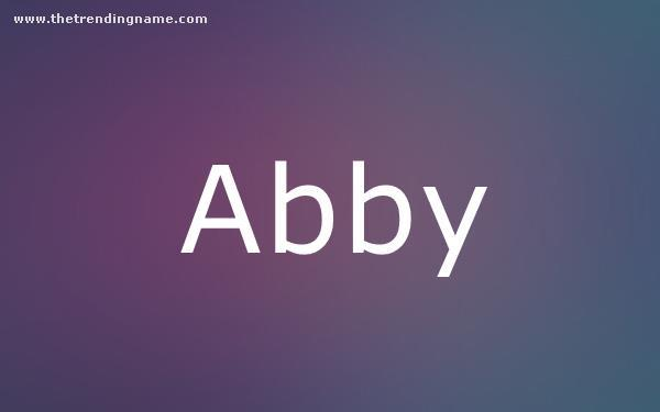 Baby Name Poster For Abby