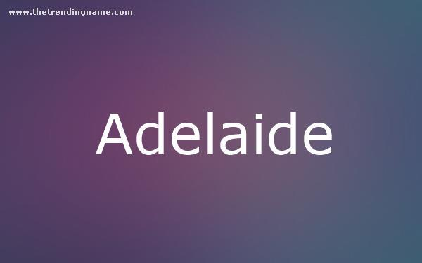 Baby Name Poster For Adelaide