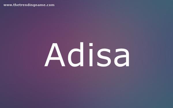 Baby Name Poster For Adisa