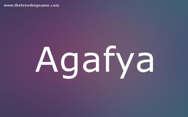 Baby Name Poster For Agafya