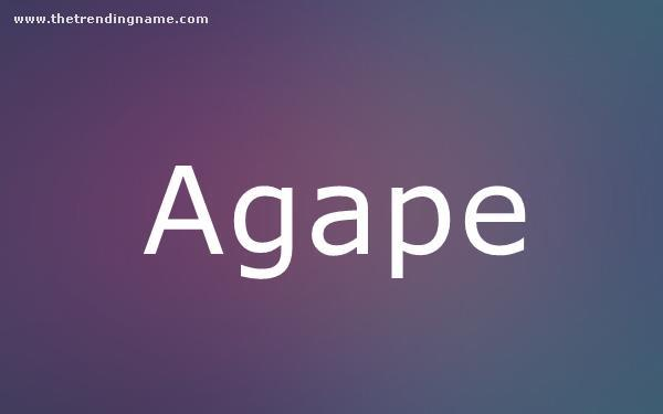 Baby Name Poster For Agape