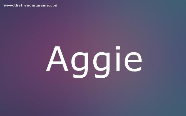 Baby Name Poster For Aggie