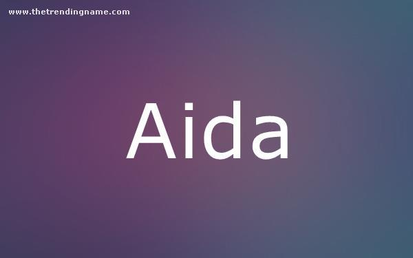 Baby Name Poster For Aida