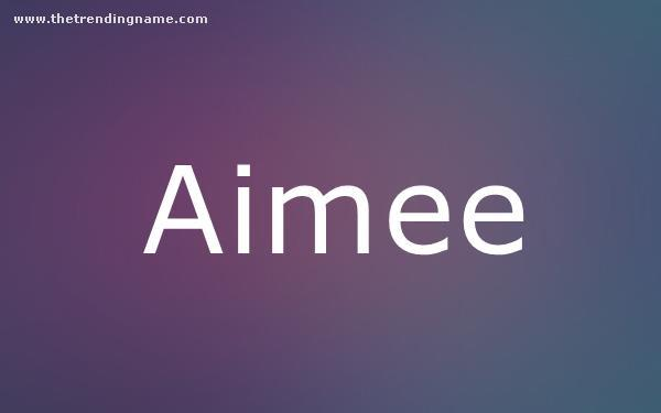 Baby Name Poster For Aimee