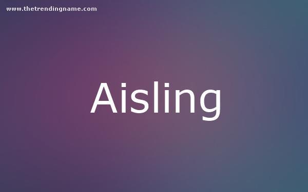 Baby Name Poster For Aisling