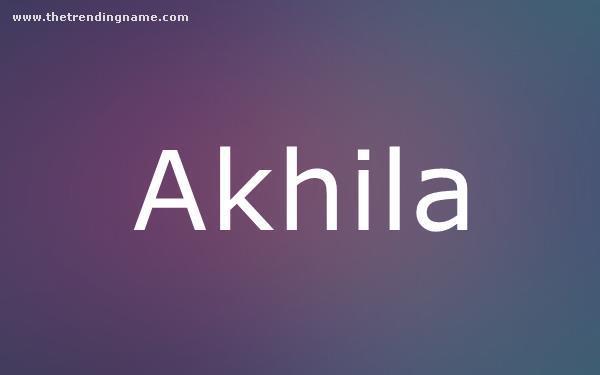 Baby Name Poster For Akhila