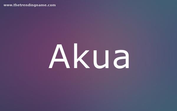 Baby Name Poster For Akua