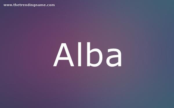 Baby Name Poster For Alba