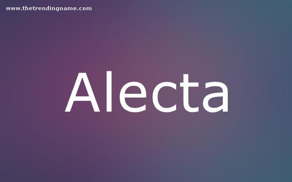 Baby Name Poster For Alecta