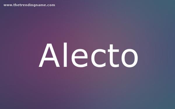 Baby Name Poster For Alecto
