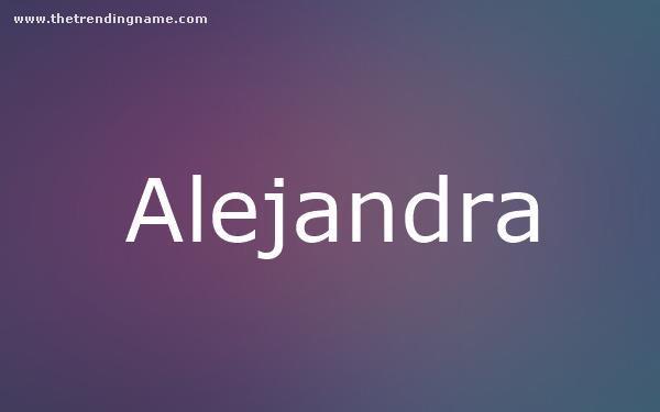 Baby Name Poster For Alejandra