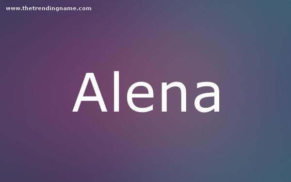 Baby Name Poster For Alena