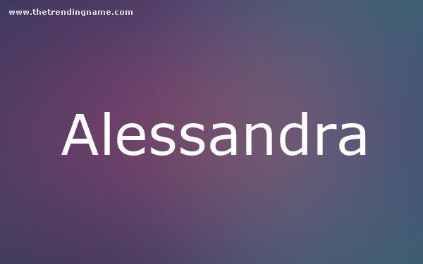 Baby Name Poster For Alessandra