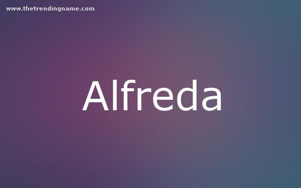 Baby Name Poster For Alfreda
