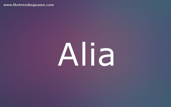 Baby Name Poster For Alia