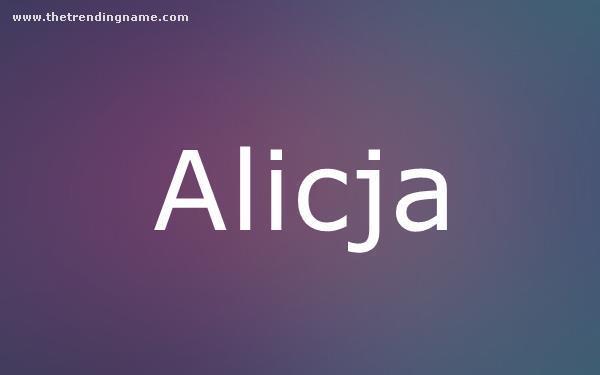 Baby Name Poster For Alicja
