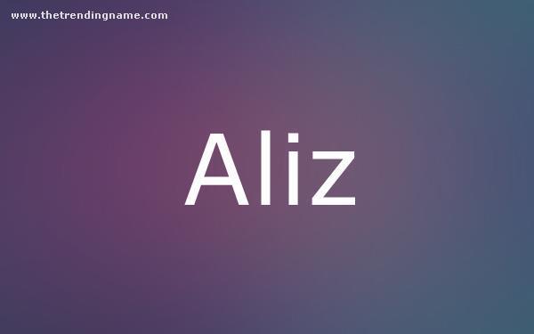 Baby Name Poster For Aliz