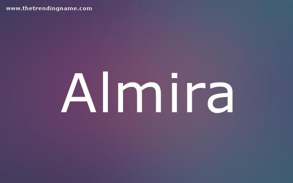 Baby Name Poster For Almira