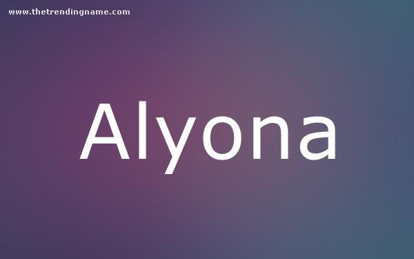 Baby Name Poster For Alyona