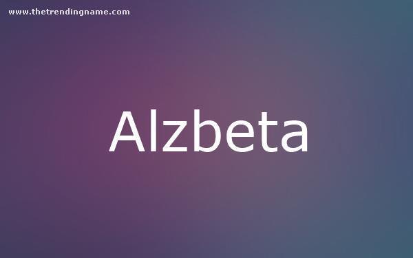 Baby Name Poster For Alzbeta