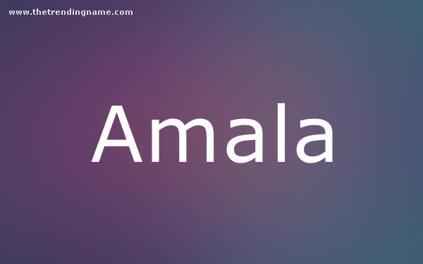 Baby Name Poster For Amala