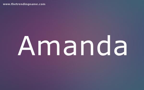 Baby Name Poster For Amanda