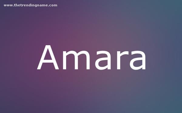 Baby Name Poster For Amara