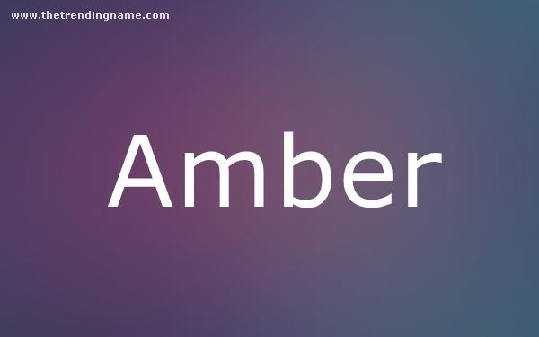 Baby Name Poster For Amber