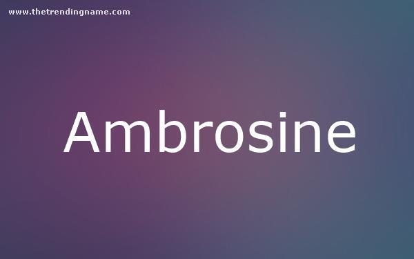 Baby Name Poster For Ambrosine