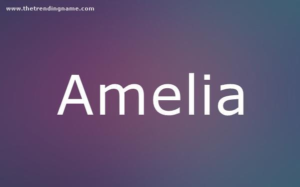 Baby Name Poster For Amelia