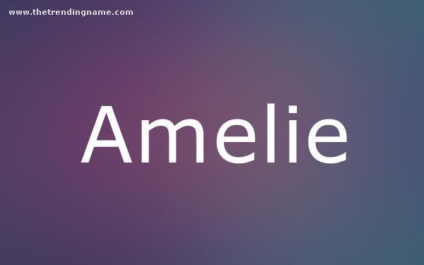 Baby Name Poster For Amelie