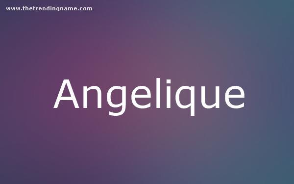 Baby Name Poster For Angelique