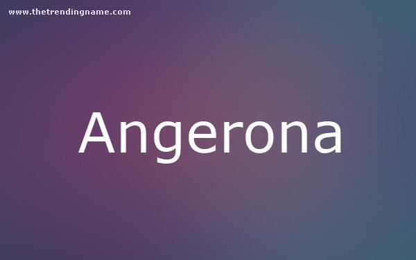 Baby Name Poster For Angerona