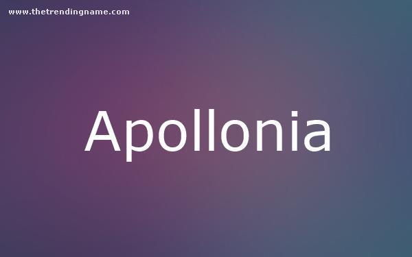 Baby Name Poster For Apollonia