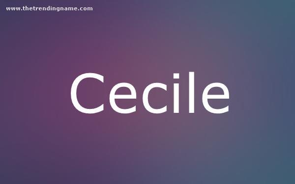 Baby Name Poster For Cecile